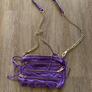 Rebecca minkoff purple crossbody bag with dustbag